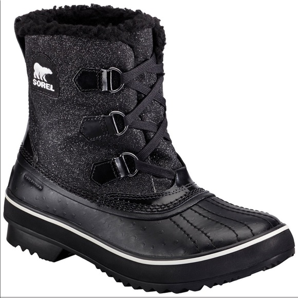 Sorel | Black Glitter Tivoli Boots